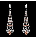 Silver and Rose Gold Dropper Earrings