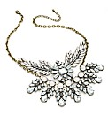 Burnished Gold Effect White Necklace