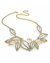 Shiny Gold Effect Leaf Chain Necklace