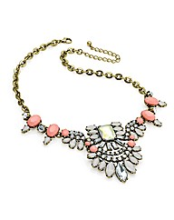 Burnished Gold Effect Peach Necklace