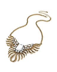 Antique Gold Effect Leaf Chain Necklace
