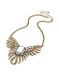 Antique Gold Effect Leaf Chain Necklace