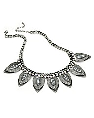 Burnished Silver Effect Chain Necklace