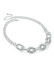 Shiny Silver Effect Chain Link Necklace