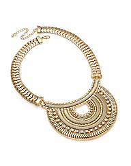 Shiny Gold Effect Crystal Chain Necklace