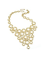 Shiny Gold Effect Link Chain Necklace
