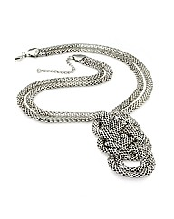 Antique Silver Effect Chain Necklace