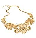 Gold Effect Filigree Chain Necklace