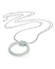 Shiny Silver Colour Long Chain Necklace