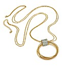 Shiny Gold Colour Long Chain Necklace