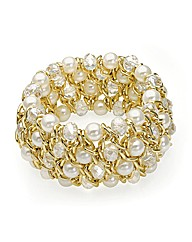 Gold Effect Elasticated Bracelet