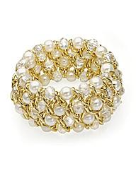 Gold Effect Elasticated Bracelet
