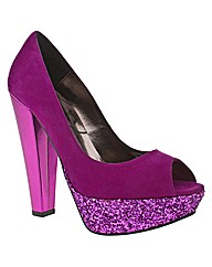 Schuh Pretty Peep Toe Glitter Pf