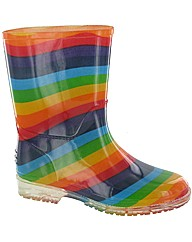 Cotswold PVC Kids Rainbow Welly