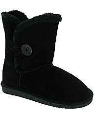 SHORT SUEDE BUTTON BOOT