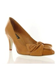 Marta Jonsson tan leather court shoe
