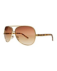 Viva La Diva Flat Top Aviator Sunglasses