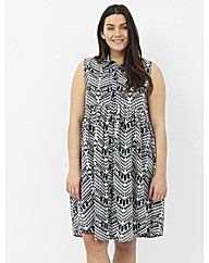 Koko Abstract Shirt Dress
