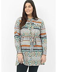 Koko Aztec Shirt Dress