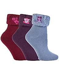 Luxury Bedsocks With Embroidery