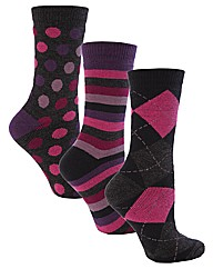 Jennifer Anderton Jacquard Thermal Socks