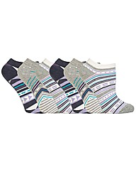 Jennifer Anderton Jacquard Trainer Socks