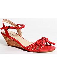 Strawberry Plaited Wedge Sandal