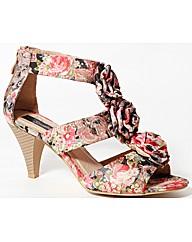 Strawberry Floral Print Sandal