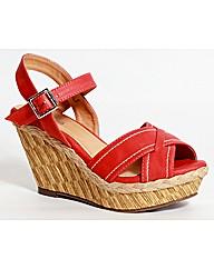 Strawberry Cross Over Wedge Sandal