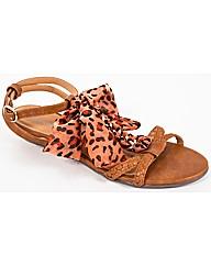 Strawberry Strappy Bow Sandal
