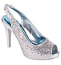Perfect Glitter Peep Toe Sling Back