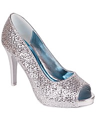 Perfect Glitter Peep Toe Closed Back