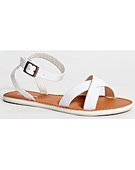 Strawberry Flat Crossover Sandal