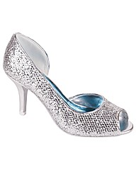 Perfect Glitter Peep Toe Open Waist