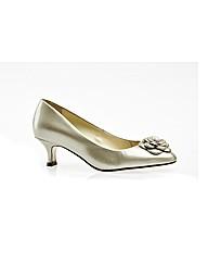 Elveden Champagne Patent Court Shoe
