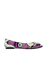Iron Fist Skin Crawler Peep Toe Flat
