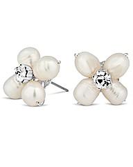 Alan Hannah Pearl Crystal Flower Earring