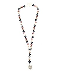 Faux Pearl Lariat