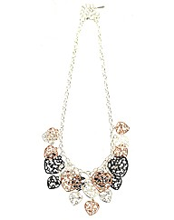 Tricolour Hearts Necklace