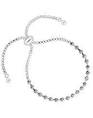 Jon Richard Round Crystal Link Bracelet