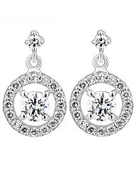 Simply Silver Silver Clara Drop Earring