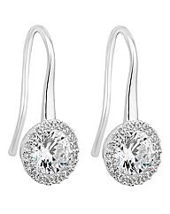 Jon Richard Cubic Zirconia Sleek Earring