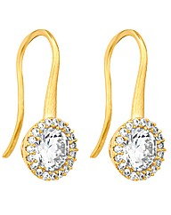 Jon Richard Cubic Zirconia Sleek Earring