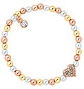 Jon Richard Heart Charm Stretch Bracelet