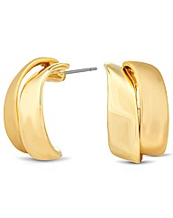 Jon Richard Polish Double Curve Earring