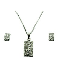 Ladies crystal jewellery set