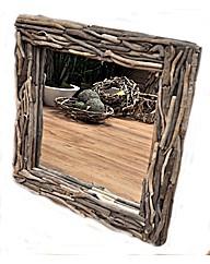 Natural Driftwood Mirror Round