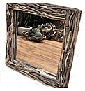 Natural Driftwood Mirror Square
