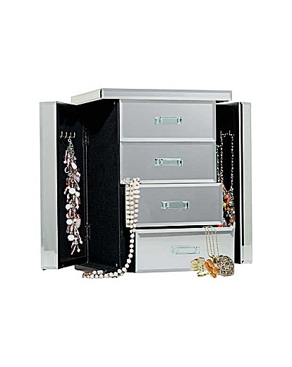 Mirrored Jewellery Box  2 Compartments