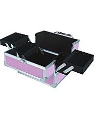 Small Aluminium Vanity Case - Pink